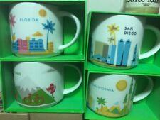 4 Set Starbucks Coffee California-San Diego-Portland-Florida-You Are Here New