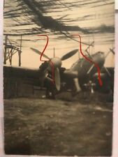Original WWII photo wrecked German night fighter aircraft captured Bf 110 #1