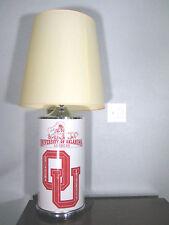 "TRUE VINTAGE University of OKLAHOMA SOONERS OU Metal Side LAMP 25"" Tall FOOTBALL"
