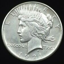 1921 U.S. High Relief Silver Peace Dollar - AU