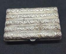 Étui à cigarettes métal argenté