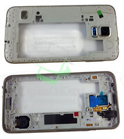 Samsung Galaxy S5 SM-G900 Frame Mid Bezel Chassis Housing Cover with Small Parts