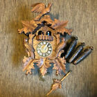 German Black Forest Carved Musical 8 Day Cuckoo Clock Birds & Dancers 3 Weights