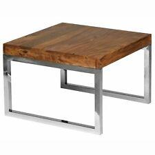 WOHNLING Beistelltisch GUNA 60 x 60 cm Massivholz Couchtisch Wohnzimmer Tisch