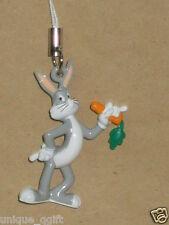 2pcs Bugs Bunny rabbit w/carrot CELL PHONE STRAP CHARM KEY CHAIN new US un 33