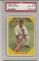 1960 FLEER #27 LUKE APPLING, PSA 8 NM-MT, HOF,  CHICAGO WHITE SOX, L@@K