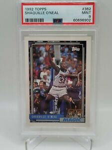 SHAQUILLE ONEAL 1992-93 TOPPS Rookie RC #362 - PSA 9 MINT ....902