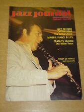 JAZZ JOURNAL INTERNATIONAL VOL 35 #2 1982 FEBRUARY BUDDY DE FRANCO PEANUTS HUCKO
