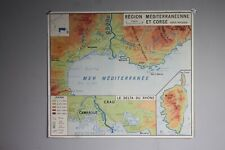 Original Vintage French school Map