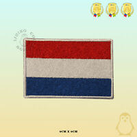 Netherlands National Flag Embroidered Iron On Sew On Patch Badge For Clothes Etc