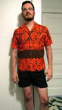 M.Nii Makahna Shorts Pareo Aloha Shirt Men's M Hawaiiana Polynesian Tiki Oasis