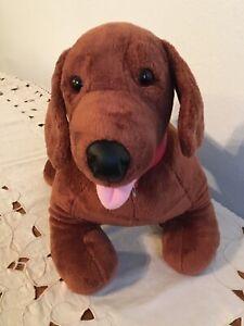 """Build A Bear Workshop Dachshund Wiener Dog Plush Stuffed Animal Toy 19"""" w/Collar"""