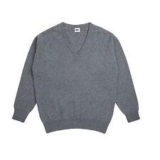 Community Clothing Women's Grey Wool V-neck Jumper XXL