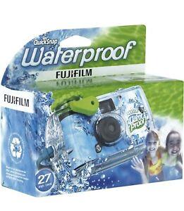 FujiFilm Disposable Quick Snap Waterproof Camera 27 Exposures Expire 09/2021