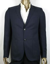 $1700 Gucci Mens Blue Wool Gauze Jacket 2 Buttons 2 Vents 48R/US 38R 368665 4440