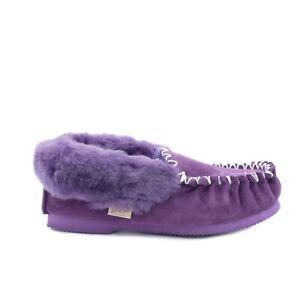 【CLEARANCE】Pink Purple Sheepskin Moccasins UGGs - 100% Australian Sheepskin