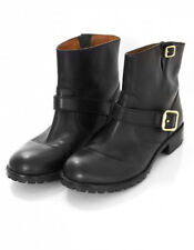 Marc Jacobs Women's Ankle Engineer Moto Boots Shoes Black Leather sz 36/6