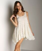 Free People Voile Lace Slip Tea Combo Shirt Top Dress Ivory New Size Medium NWT