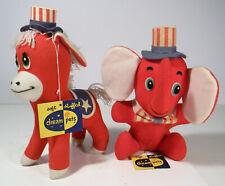 VINTAGE DREAM PETS DEMO DONKEY AND G.O.P. ELEPHANT POLITICAL PALS