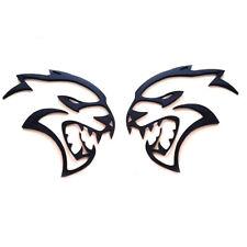 2x OEM Black Hollow Hellcat Emblem Badge Left Right 3D Logo for Hellcat L New