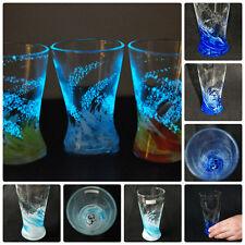 OCEAN & SKY BLUE Luminous Ryukyu Glass Tumbler (Handmade in Okinawa)