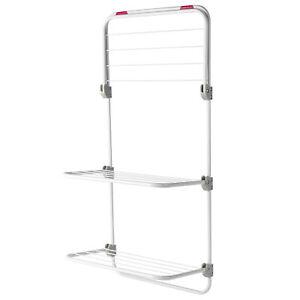 Kleeneze® Overdoor Clothes Airer Three-Tier, 40x20x134cm, Pink/White KL081674EU7