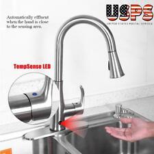 Motion Sense Touchless Kitchen Faucet Pull-Down Single Handle Zinc Automatic New