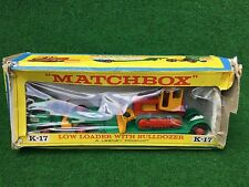 Matchbox Lesney K-17 King Size Low Loader with Bulldozer ovp