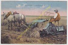 CPA EN BEAUCE Agriculture La Faucheuse Lieuse tirée par chevaux Edit LENORMAND