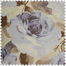 Marrón Púrpura Flor De Flores Estampado Floral Hoja Felpilla Tapicería