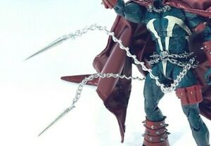SU-CHN-P: Custom Wired Metal Chain with Spike for McFarlane Spawn (No figure)