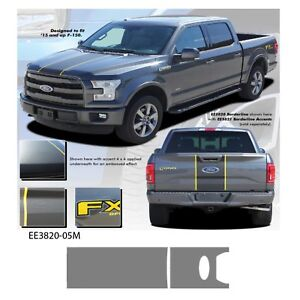 """""""Borderline"""" Ford F-150 2015 and up Vinyl Graphics Kit - Metallic Silver"""