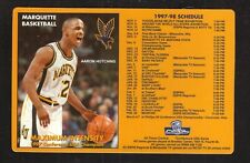 Marquette Golden Eagles--1997-98 Basketball Magnet Schedule