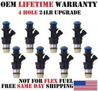 4 Hole 24Lb Upgrade (8x) OEM Delphi Fuel injectors for GM Cars 4.8/5.3/6.0L V8
