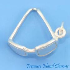 SUNGLASSES SUN GLASSES SUMMER 3D .925 Solid Sterling Silver Charm