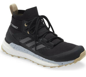 NEW ADIDAS Women Terrex Free Hiker Primeblue Hiking Shoe US 7 Black/Grey/Savanna
