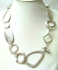 """STUNNING VINTAGE ESTATE SILVER TONE CHAIN LINK 36"""" NECKLACE!!! 6199Y"""