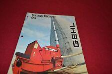 Gehl 99  Forage Blower Dealers Brochure DCPA