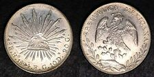 MEXICO 1894 FG 8 REALES LARGE MEXICAN SILVER COIN  !!!