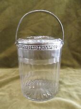 Rare & gorgeous french crystal & 950 silver biscuit jar Baccarat Cherry blossom