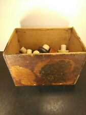 Vintage carved grape decorative wood wooden box wine cork stained flemish art