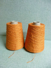 "1 cône de fil à tricoter  ou crocheter ,fil torsadé ""orange """