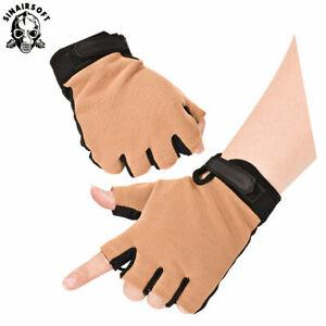 Outdoor Tactical Half Finger Glove Fingerless Anti-slip Breathable Sports Gloves