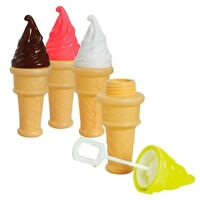 12 x ICE CREAM BUBBLES TOY BOY GIRL PARTY SCHOOL FAIR EASTER PARTY BAG FILLERS