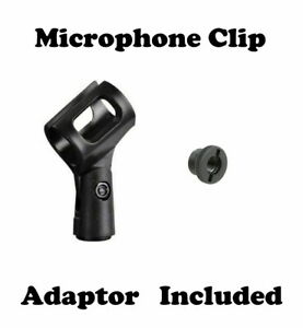 Microphone Stand Clip Holder for Dynamic / Condenser Mic, Adaptor Included !!