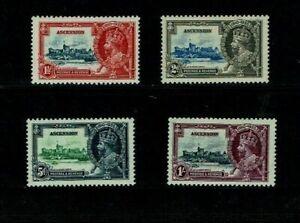 Ascension Island: 1935 King George V Silver Jubilee, Mint set
