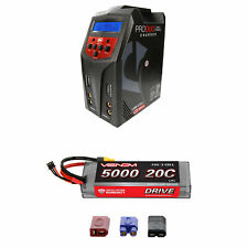 Venom 20C 2S 5000mAh 7.4V LiPo Battery with Pro Duo Charger Combo