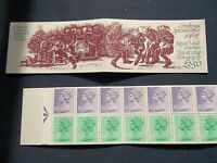 FX5 £2.50 1982 CHRISTMAS MUMMERS GB FOLDED BOOKLET UMFB30 ARROW IN MARGIN