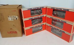 Set Of 6 Lionel O Gauge Aluminum New York Central Passenger Cars In The Boxes
