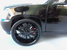 JADA 1/24 SCALE ALL BLACK WHEELS FOR REPAIRING FITS 2010 CHEVY TAHOE #2004FVRST